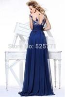 Elegant Applique Beaded See Through Corcet Prom Gowm Zuhair Murad Evening Dresses 2014 vestidos dress long Custom Made
