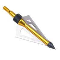 "Wholesale  3Pcs 125Grain Broadheads Arcsery 3-Blade Arrows Tip 2"" Cut Arrows fit crossbow"