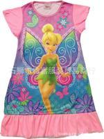 children's clothing tinkerbell flower fairy nightdress wholesale cartoon child children girls sleepwear Pajamas for girls