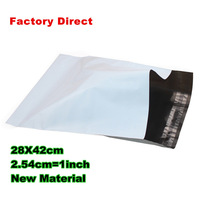 2000 pcs/lot 28x42cm white Poly Mailing bags Plastic Envelope Express bags white courier bags Plastic Self Seal