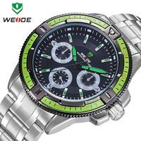 Fashion 2014 casual sports relogio masculino 3ATM Japan movement digital quartz watches men full steel watch male WEIDE