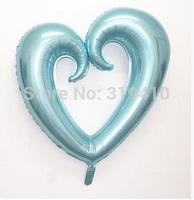 43 inch foil Heart shaped balloon metallic balloons wedding gifts pearl light blue 30pcs