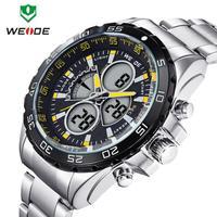 Multi-functional Analog Digital Wristwatch 2014 WEIDE Sports Watch Luxury Brand Unique Design Back Light Men Japan Quartz 3ATM