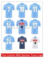 2015 Napoli jersey Thai Quality 14 15 Napoli Soccer Jersey HIGUAIN HAMSIK MARADONA Jerseys Home away 3rd Football Shirt
