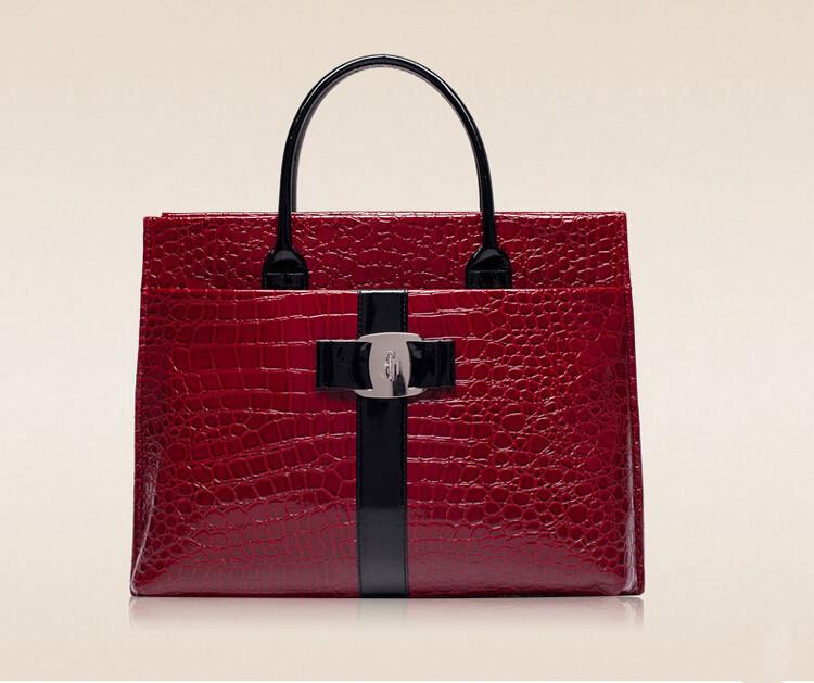 2014 New Brand Women Messenger Bags Vintage Women's Handbags Satchels Fashion Leather Brief Bag Crocodile Casual-bags Designer(China (Mainland))