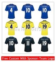 14/15 Chelsea home blue DIEGO COSTA 19 jersey 2015 soccer JERSEY DROGBA 11 HAZARD 10 4 FABREGAS home away 3rd shirt