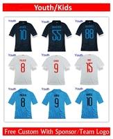 Youth Free Custom 14/15 3rd UCL Kovacic Hernanes Palacio VIDIC CAMBIASSO Soccer Jersey football shirts