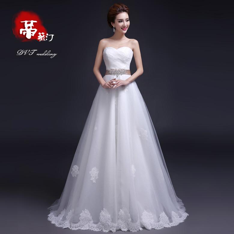 Dvt 2014 novo vestido de noiva inverno moda retro bra tailing aliança de casamento de descarga 066(China (Mainland))