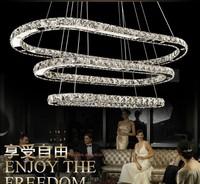 Modern LED K9 crystal chandelier in the living room dining oval crystal chandelier LED lamps