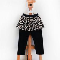 winter baby girls' leggings,kids clothing warm pants children's cotton casual print leopard trousers,leggings for girls