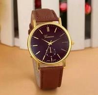 relogios masculinos 2014 Hot Sale New Fashion Brand Geneva Girls Ladies Women Quartz Wristwatch Gold Dial Dress Watch Gift
