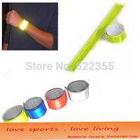 Wholesale 500pcs/lot, 40CMx3CM,Reflective Wristband,slap band slap wrap,Bracelet,Customized logo available