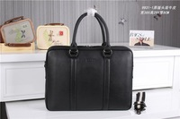 High Quality Men Genuine Leather Handbags Bags 2 Color Black/Sapphire Size W38H29D8 Model MY-M9931-1 DHL Free Shipping