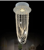 modern k9 Crystal Chandelier Lighting Fixture Small Clear Crystal Lustre Lamp for Aisle Stair Hallway corridor porch light