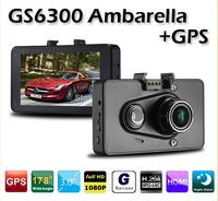 GPS optional Ambarella GS6300 Car Dvr Full HD 1080p 3.0 inch LCD Car Recorder H.264 with G-Sensor Car Camera Recorder