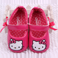New arrival velcro animal prints black first walker baby girl shoes hello kitty shoes sapatos para meninas