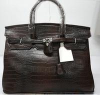 2014 new luxry women handbag alligator birk Victoria tote brand h silver gold lock bag ys purse y bag DG classic gift  40cm