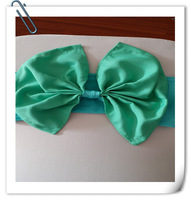 2014 New Producct  Bow Spandex Band With Polyester Bow For Chair Coversp& Spandex Band Bowandex band bow