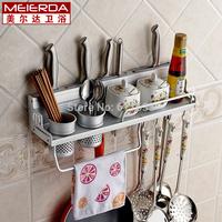 Meierda space aluminum rack,kitchen accessories shelf multifunctional tool holders spice rack 50cm,kitchen organizers