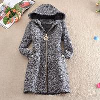 New Korean Style Classic Women Woolen Warm Coat Wool & Blends Thicken Overcoat Outerwear woolen cloth Winterwear Plus size