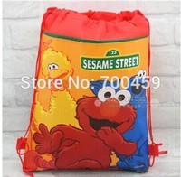 Wholesale Cartoon children's school bag Drawstring Backpack Bag Kids shopping bags 180pcs Sesame Street lot free shipping