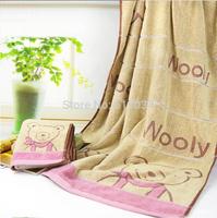 2015 free shipping retail towel factory selling 32 strands pure cotton jacquard bear bath towel High-grade towel wholesale