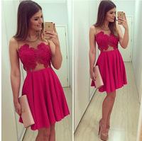 vestido de renda 2014 women dress rose lace dress see through mesh tropical vestidos femininos party dresses sexy winter dress
