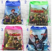 Wholesale 180pcs New Pattern How to Train Your Dragon Cartoon Printing Drawstring Backpack Kids School Shoulder Bag Shopping Bag