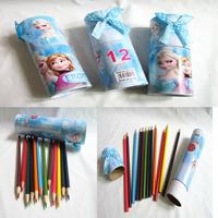 Cartoon Frozen Princess Girl`s 12 Color Pencils Best New Popular  Color Pencil !!12pcs/pack,New colored pencils