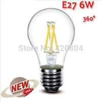 200PCS High Power E27 4W 6W 8W 4LED Chips LED Bulb Light Lamps Glass Globe Lamp Edison Filament bulb WarmWhite 110V-240V