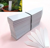 "100PCS 4"" White Plastic Plant Seed Labels Pot Marker Nursery Garden Stake Tags"