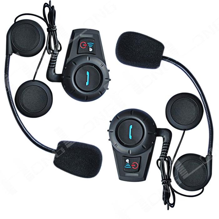 2 x 500M Bluetooth Helmet Comunicador Bluetooth Helmet Headset/Intercom Hands-free Calling for Motorcycles and Scooters(China (Mainland))