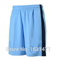 A+++ Man city Suit Shorts Track Wear Thai Soccer 2014 2015 Home Away Blue Dzeko Toure YAYA 14 15 Aguero soccer shorts