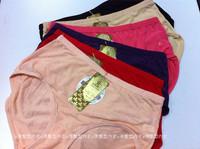 Modal panties female 6 100% cotton seamless mid waist plus size panties mm