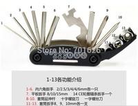 Bike Tool Multi Tool Mini Repair Tool  Pocket Tool Folding Tool 16 in 1