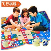 2014 Rushed FreeShipping Game blanket  Baby Play Mats Educational  Flight chess game carpet130cm*100cm hot sale