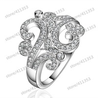 R613-8 925 Silver plated new design finger ring for lady