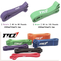 2 Psc/Lot 2 Levels Available Yoga Pull Up Assist Bands Crossfit Exercise Body Fitness Long Resistance Bands 3.2cm,4.5cm