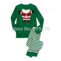 2015 New Arrival Santa Claus Pajamas 100% Cotton Baby Pijamas Kids sleepwear clothing Boys Pyjamas Children's wear 6set/lot