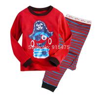 2015 New Arrival Pirate Pajamas 100% Cotton Baby Pijamas Kids sleepwear clothing Boys Pyjamas Children's wear 6set/lot