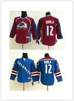 2014 Colorado Avalanche Hockey Jerseys #12 Jarome Iginla Jersey Home Burgundy Red White Steel Blue Jarome Iginla Stitched Jersey