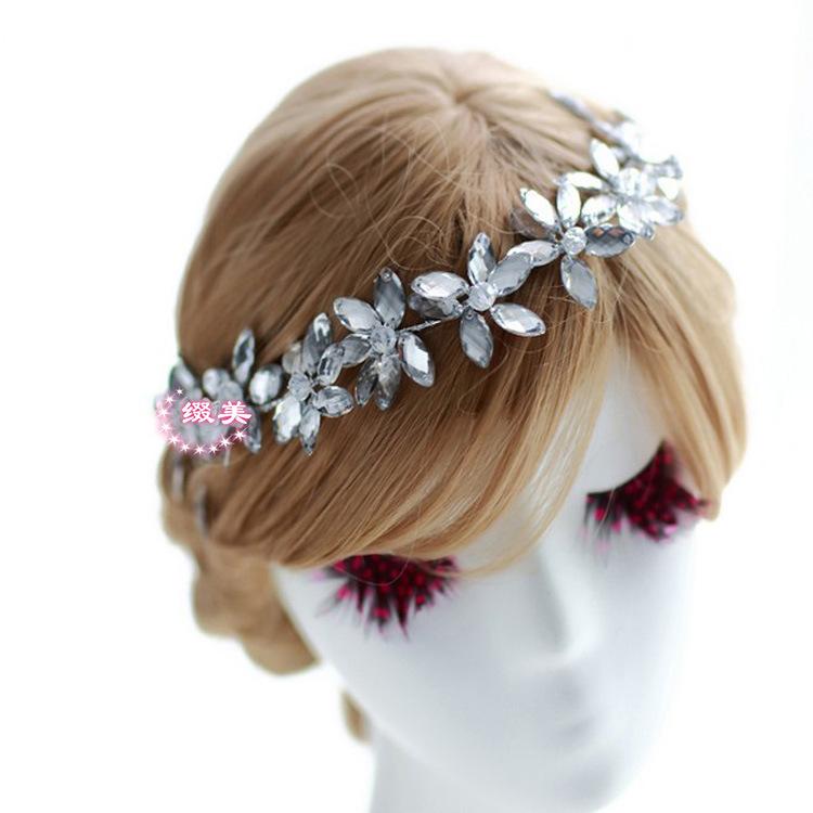 Bijoux Pour Cheveux Vintage : Easya trendy style cristal et alliage de zinc en forme