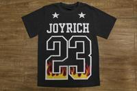 JOYRICH 23 Fire Letter Print Short Sleeve T-Shirt men's S/S Tee Shirt  HBA Pyrex Size M-3XL
