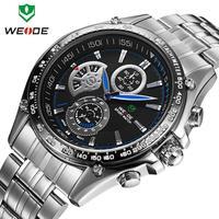 Hot Watches men luxury brand original WEIDE fashion sports watches quartz diving 30 meters water resistant watch