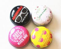 2015 Hot seling 4color/lot lovely baby  fashion lipgloss lipstick Lip Balm tin box 11g.free shipping