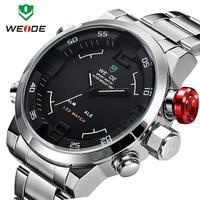 WEIDE Men Watch Military 3ATM Dual Time LED Digital Analog New Sports Quartz Wristwatches 6 Colors Watch