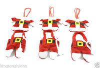 Christmas Decor Santa Suit Christmas Silverware Holders 6pcs/Set