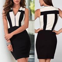 2014 New Women Summer Dress Knee Length Bodycon Pencil Dress Office Dress Vestidos Formal Evening dress