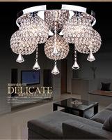 Modern luxurious sitting room study bedroom romantic restaurant k9 crystal Ceiling Lights  5 head crystal Ceiling Lights