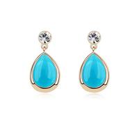 new brand design fashion woman selling 18K gold earrings OL droplets angel tears opal earrings 95345